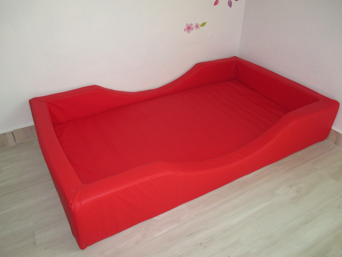 Cama de espuma com colch o decora montessori r 965 00 for Sofa que vira beliche onde comprar