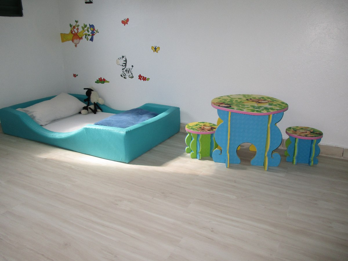 Cama de espuma com colch o decora montessori r 965 00 - Cama para nino de 2 anos ...