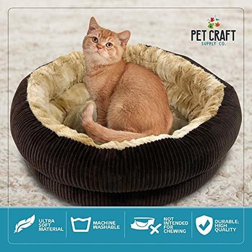 cama de gato redonda  cama de gato calmante de felpa au...