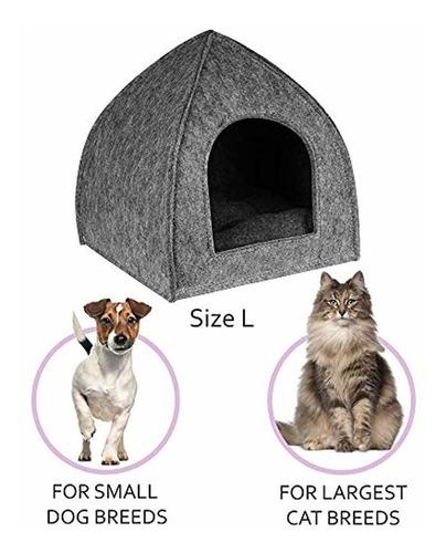 cama de la casa del gato con almohadilla extraíble coz...