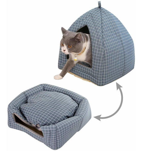 cama de la cueva de la tienda del gato, cama de la casa...