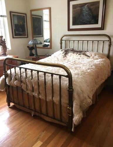 cama de laton matrimonial antigua