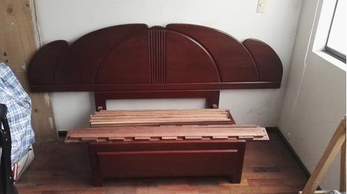 cama de madera 1.5 plaza