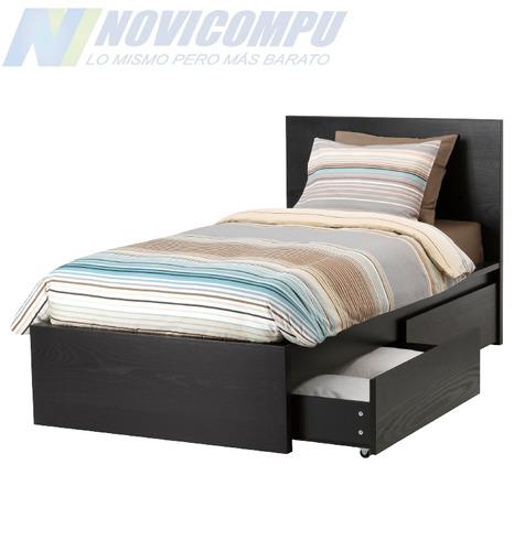 cama de madera con 2 compartimentos, importada