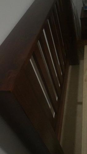 cama de madera maciza 2 plazas importada nueva