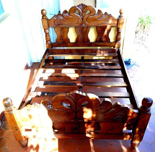 cama de madera matrimonial nueva cedro cisnes