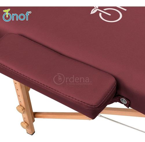 cama de masaje plegable con cabecera portabrazos profesional
