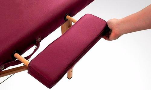 cama de masaje portátil y estuche