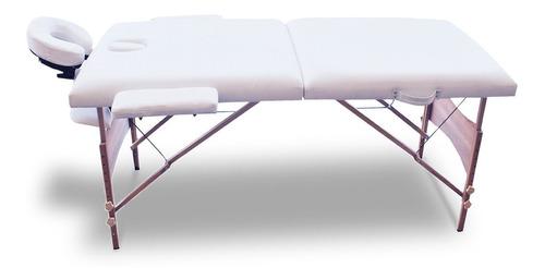 cama de masajes portátil costway 84'' en madera color