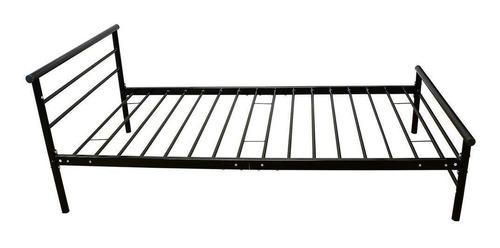 cama de metal dormitorio marco dos cabeceros somier fun-2046