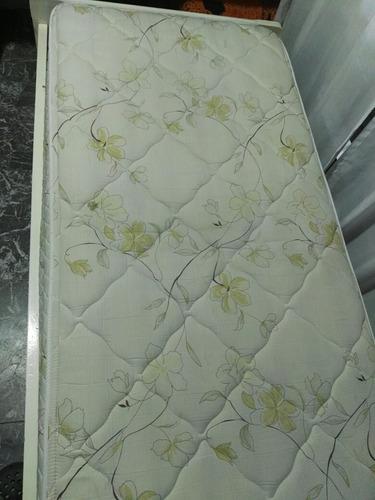 cama divan 1 y 1/2 plazas c/ colchón cannon 1.90 x 0.90 x0.2