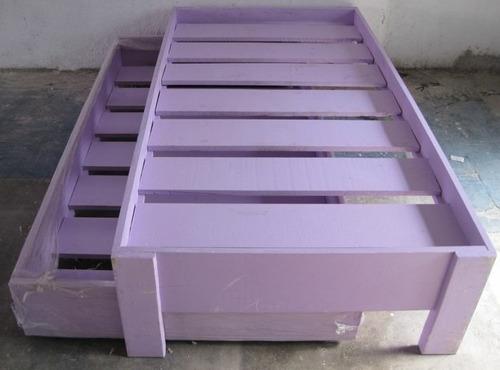 Cama doble individual madera varios col para ni - Doble cama para ninos ...