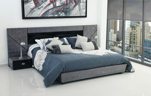 cama doble para colchón de 1.40 + 2 mesas de noche + tablado