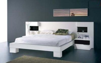 cama dos plazas lineal + 2 veladores dormitorio  dr 009
