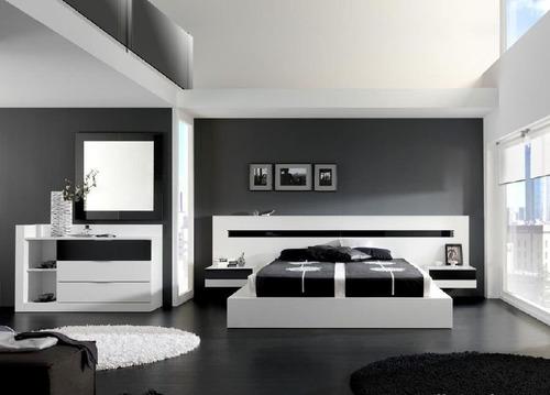 cama dos plazas lineal + 2 veladores dormitorio dr 013
