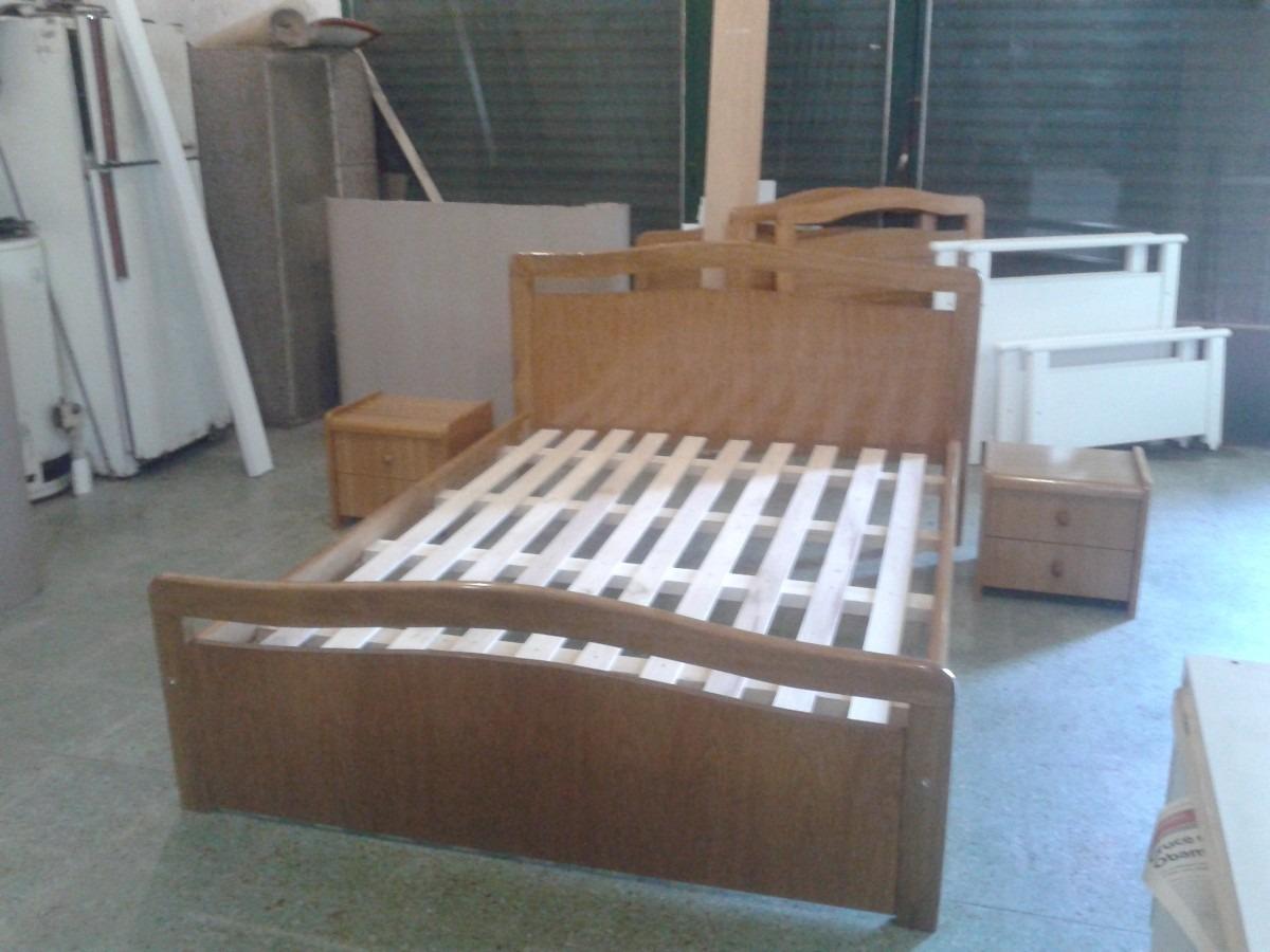 Cama De Dos Plazas. Enteramente Maciza Serie A Muebles - $ 8.270,00 ...