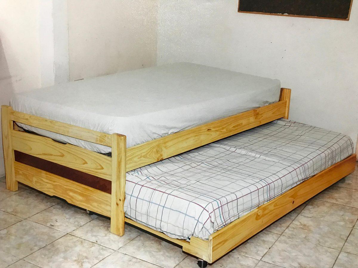 Cama duplex de madera bs en mercado libre - Cama dosel madera ...