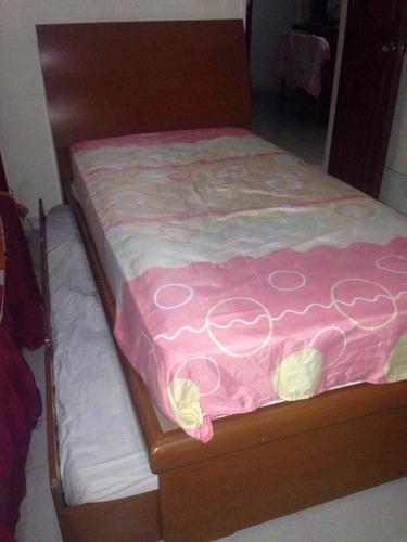 cama duplex individual con ambos colchones