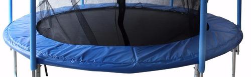 cama elastica 2.40mts garden life h/100kg. c/red seguridad