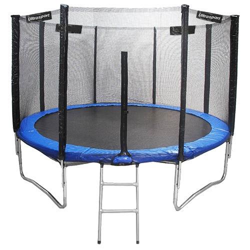 cama elástica 305 cm com escada e rede - diâmetro 10 pés