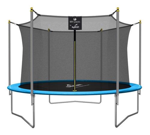 cama elástica 3,05 mts verde red my jardin soulet trampolin