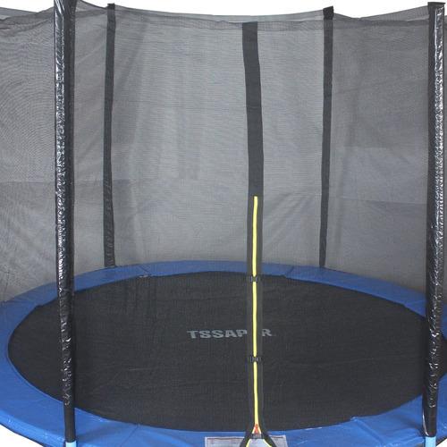cama elastica 3,05m pula pula trampolim + escada + rede