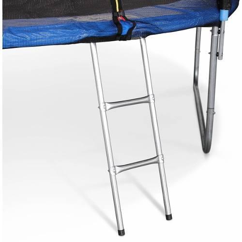 cama elástica 8ft 2.44 mts con malla protectora y escalera