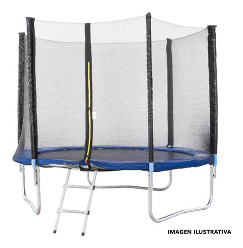 cama elastica c/ proteccion 2,45m red exterior escalera