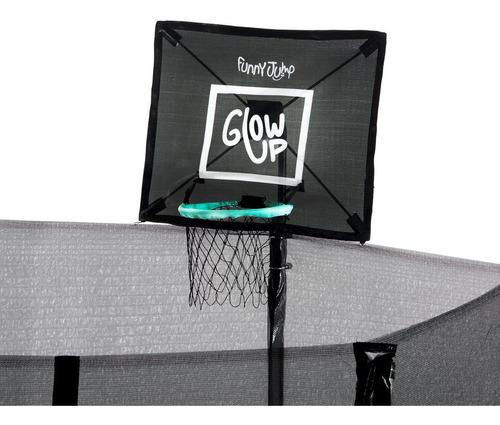 cama elástica con malla+set basketball glowup 3,05m 10ft