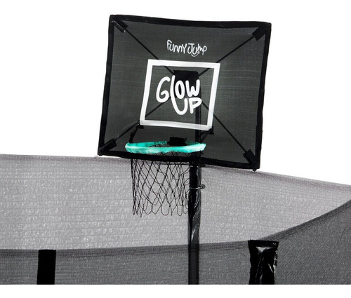 cama elástica con malla+set basketball glowup 4,27m 14ft