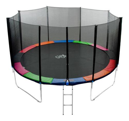 cama elástica glowup 10ft 3.05mt - malla + escalera r3328