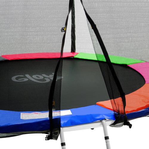 cama elástica glowup 8ft 2.44mt - malla + escalera r3332