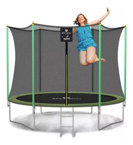cama elástica grande 244 para niños cn red de protección