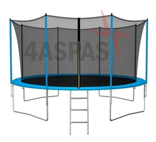 cama elastica grande 3.65 metros escalera red protectora