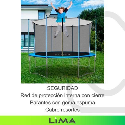 cama elástica grande 365 para niños cn red de protección