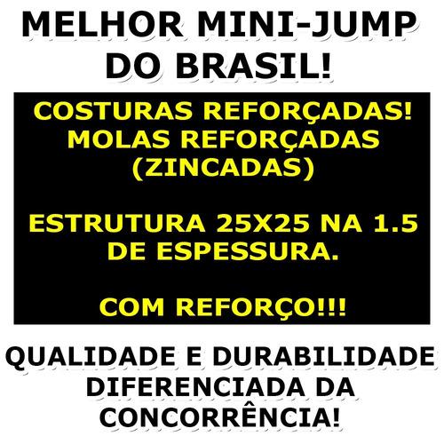 cama elástica mini jump melhor do brasil - halteres e anilha