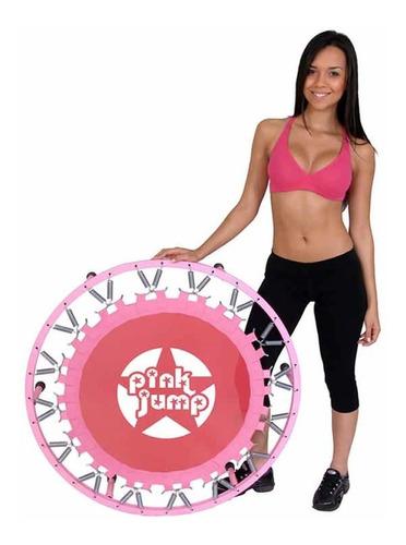 cama elástica pink jump trampolim polimet