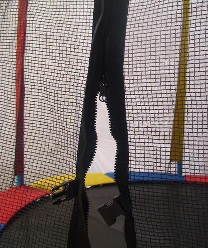 cama elástica pula pula trampolim 4,27m com rede proteção nf