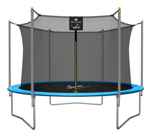 cama elastica soulet gris linea premium con red 3,05 metros