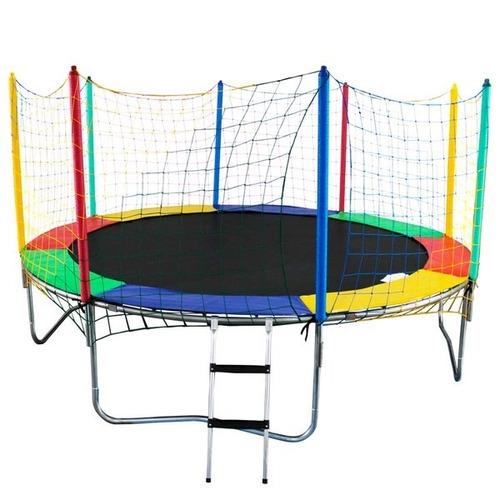 cama elástica trampolim grande 3,66 m reforçada 120kg