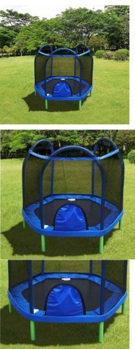 cama elástica trampolim pula pula 2,13m com rede de proteção