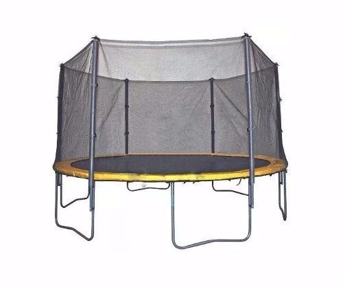 cama elástica trampolim pula pula 4,26 m reforçada com rede