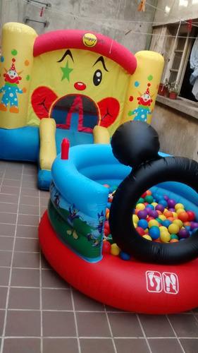 cama elasticas juegos inflables piscina de pelotas y massss