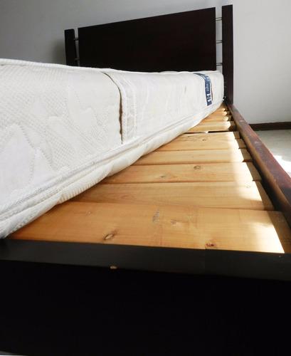 cama en cedro y colchón comodísimos