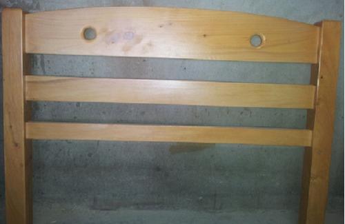 cama en pino de 1.00x1.90