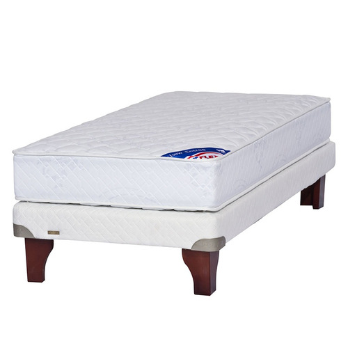 cama europea 1 plaza flex mediterráneo blanco