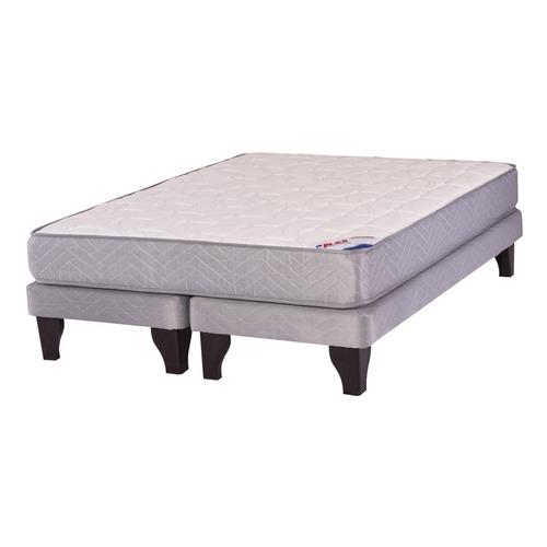 cama europea 2 plazas b/d flex therapedic basic gris