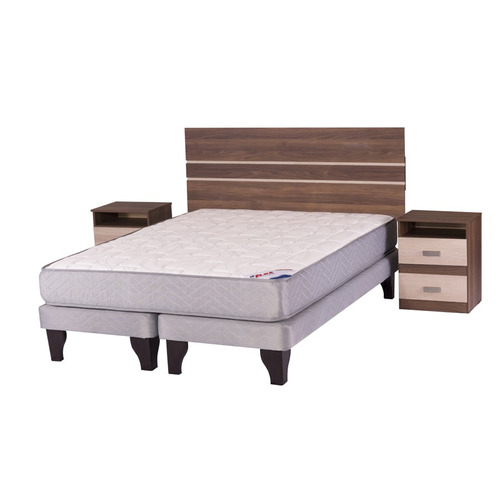 cama europea 2 plazas b/d flex therapedic basic + milano