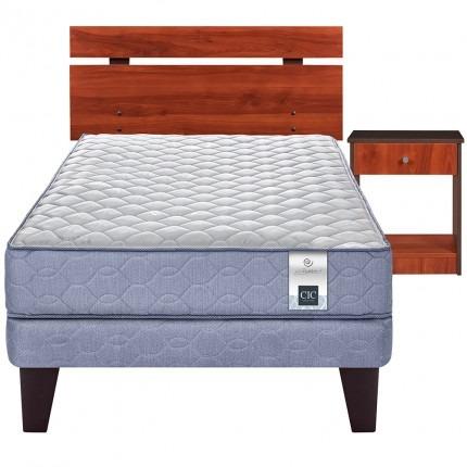 cama europea cic essence 3 cherry 1,5 plazas + set maderas