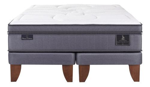 cama europea cic super premium 2 plazas base dividida